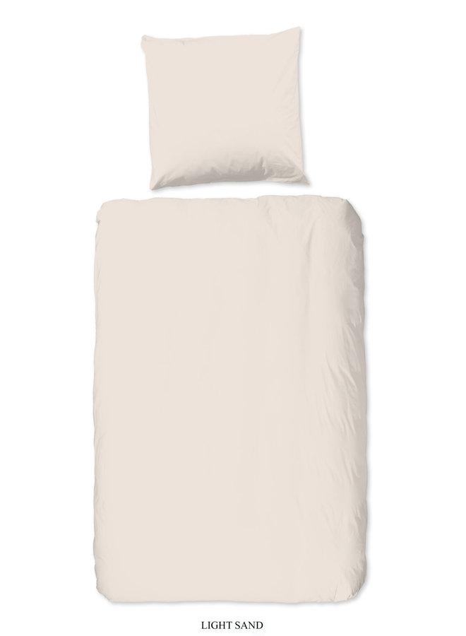 1-persoons dekbedovertrek 140x220 katoen-satijn l.zand