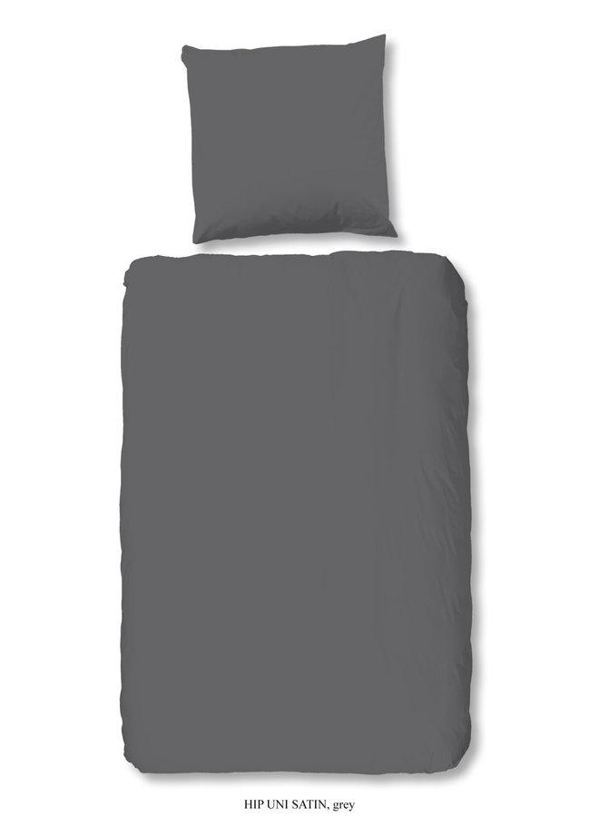 1-persoons dekbedovertrek 140x220 katoen-satijn grijs