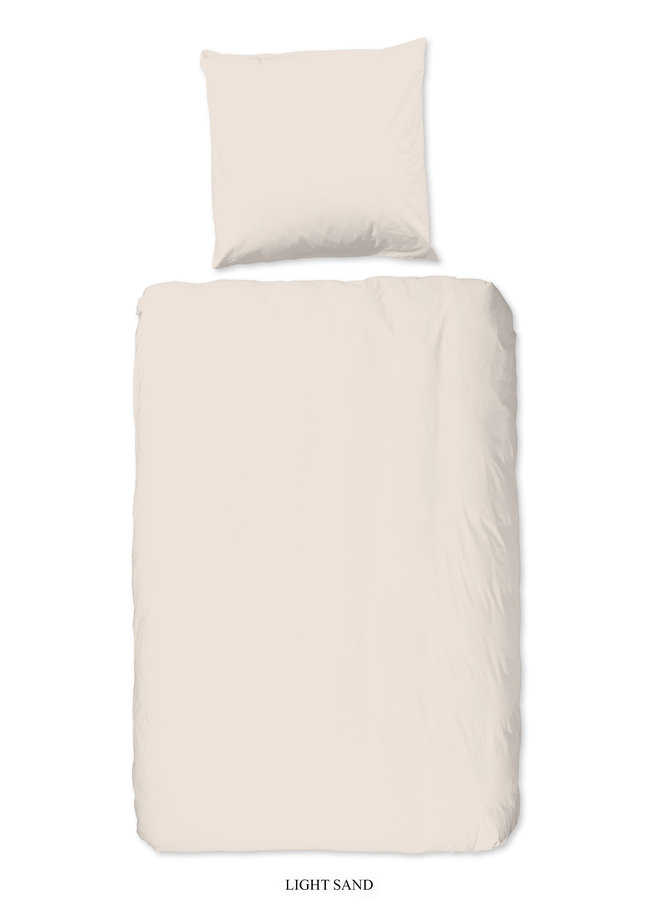 1-persoons dekbedovertrek 140x220 katoen sv l.zand