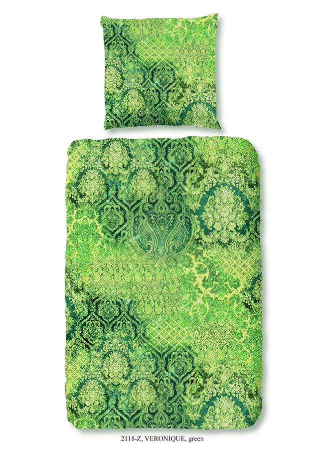 1-persoons dekbedovertrek 140x220 katoen-satijn nr.2118 groen