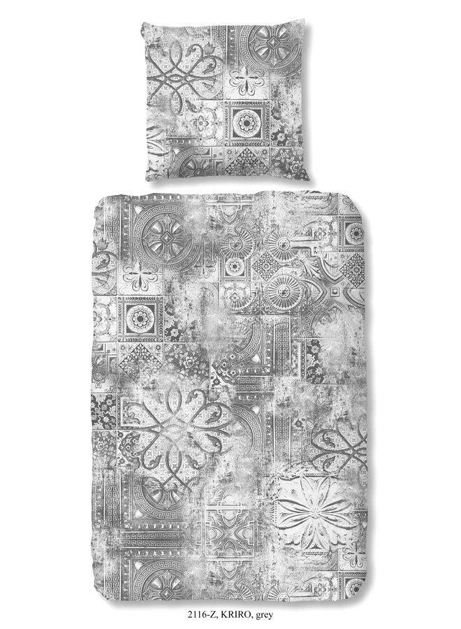 1-persoons dekbedovertrek 140x220 katoen-satijn nr.2116 grijs