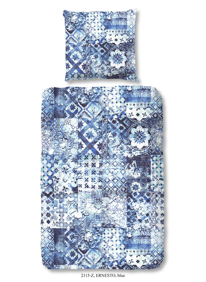 1-persoons dekbedovertrek 140x220 katoen-satijn nr.2115 blauw