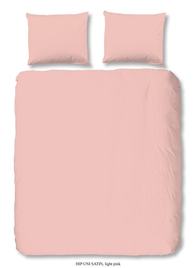 1-persoons dekbedovertrek 140x220 katoen-satijn l.pink