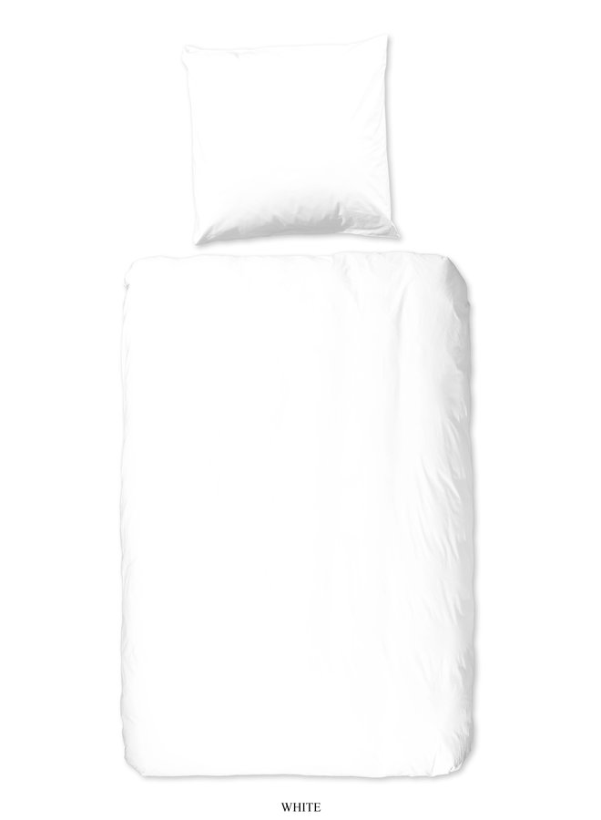 1-persoons dekbedovertrek 140x220 katoen sv wit