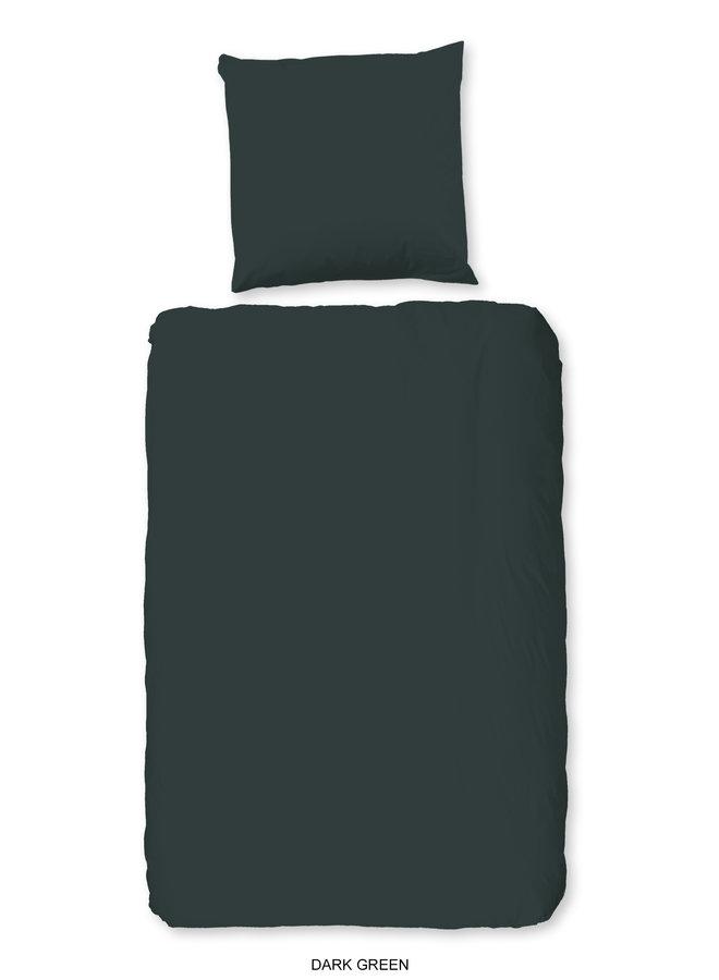 1-persoons dekbedovertrek 140x220 katoen sv d.groen