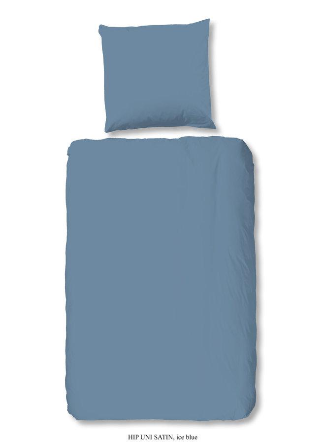 1-persoons dekbedovertrek 140x220 katoen-satijn ice blauw