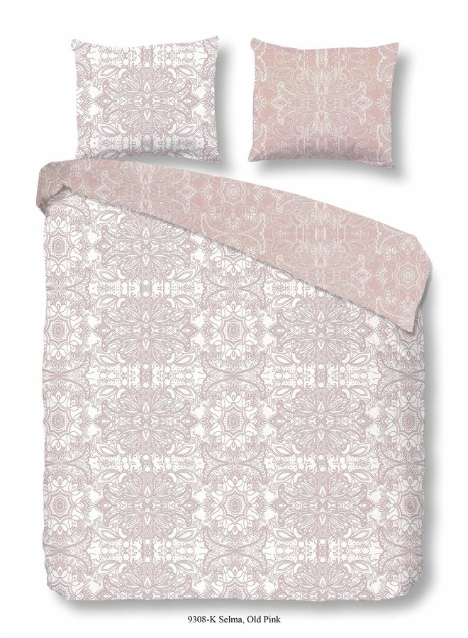 Dekbedovertrek - Lits jumeaux 240x220 katoen-satijn nr.9308 roze