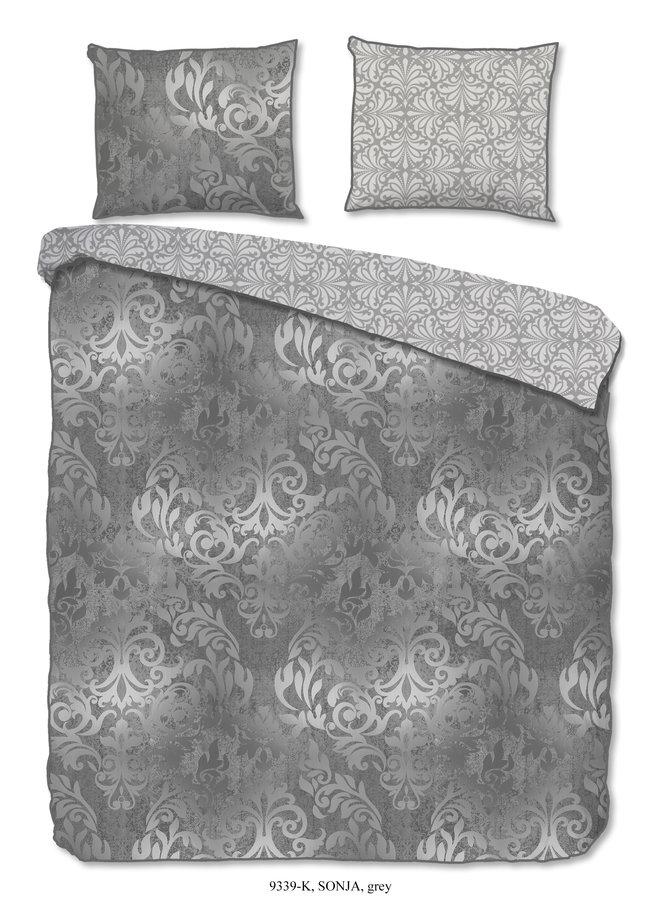 Dekbedovertrek - Lits jumeaux 240x220 katoen-satijn nr.9339 grijs