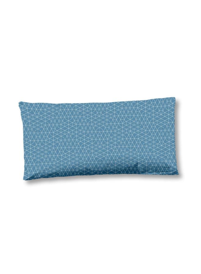 Kussenhoes katoen satijn 1-40x80 nr.6336 blauw