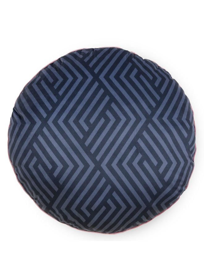 Rond sierkussen 55cm diameter polyester nr.20017 antraciet