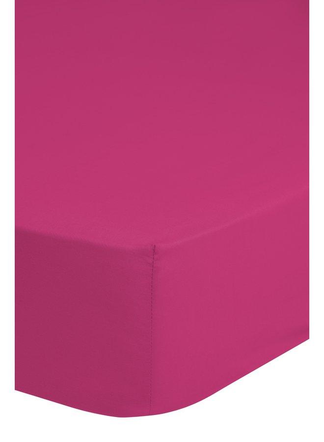 Hoeslaken 180x220 katoen Renforce pink