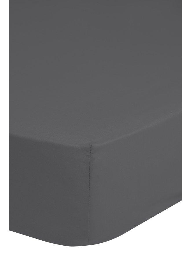 Hoeslaken 200x220 jersey d.grijs