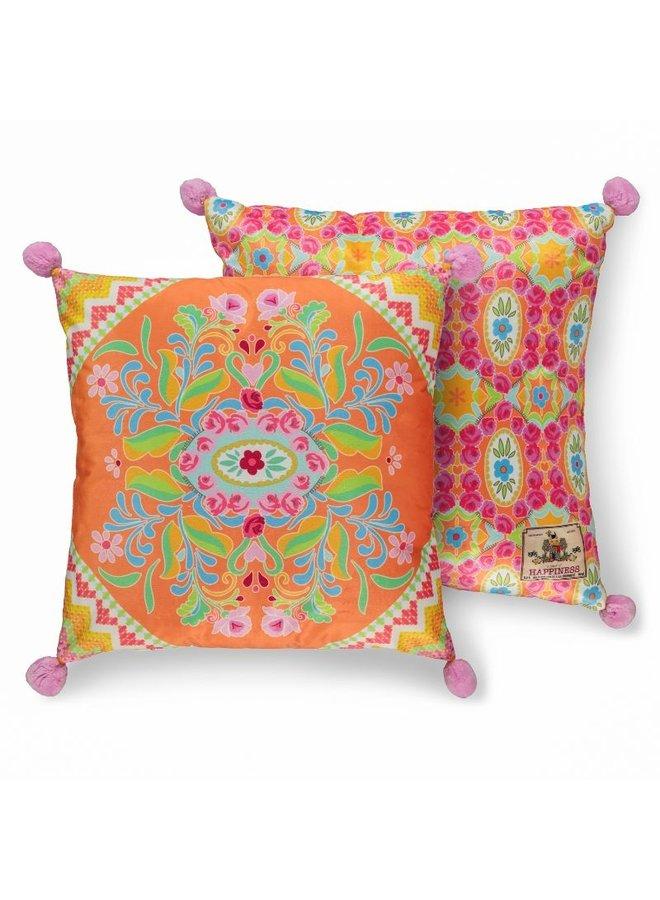 Sierkussen 1-48x48 polyester nr.8056 oranje