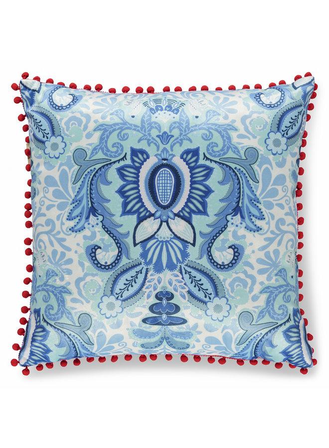 Sierkussen 1-48x48 polyester nr.8054 blauw