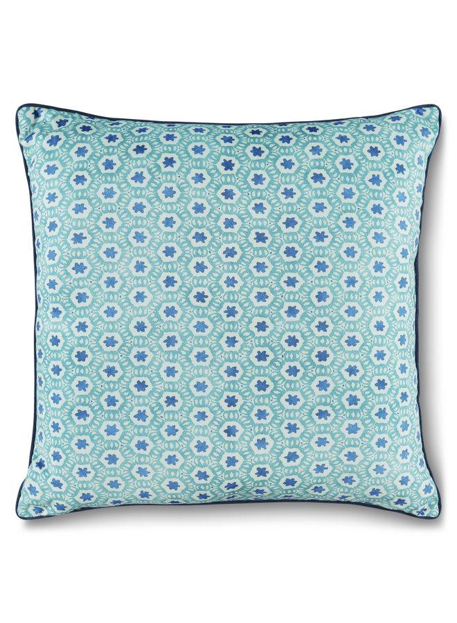 Sierkussen 1-48x48 polyester nr.6795 blauw