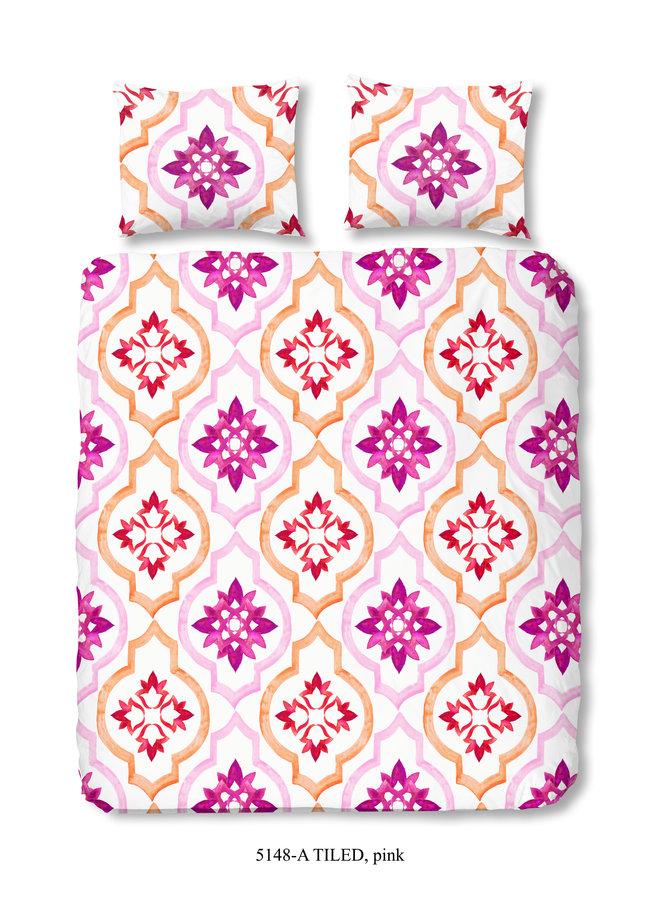 Dekbedovertrek Lits jumeaux 240x220 nr.5148 roze