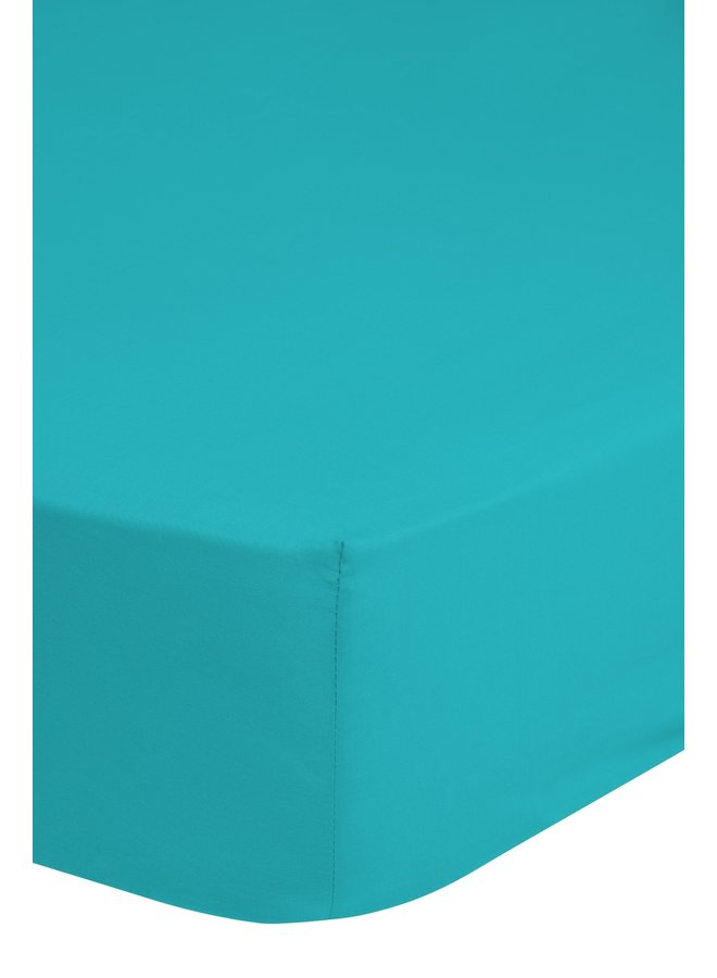 Hoeslaken 180x200 katoen Renforce aqua