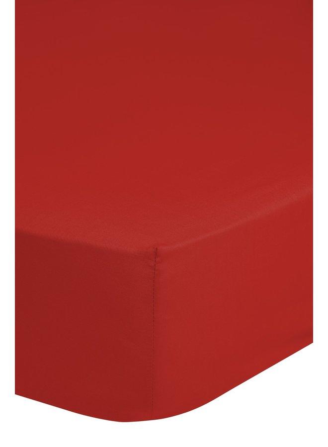 Hoeslaken 160x200 katoen Renforce rood