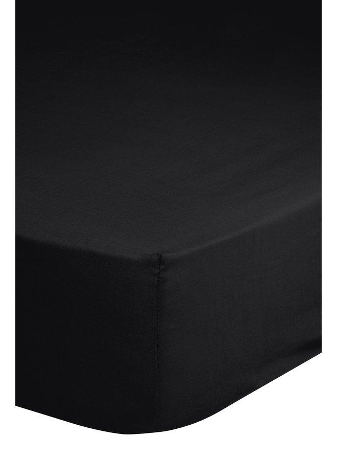 Hoeslaken 160/180x200 Good Morning jersey zwart