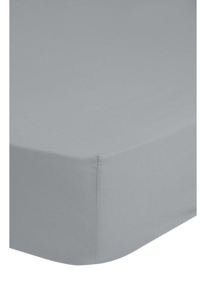 Hoeslaken 160/180x200 Good Morning jersey zilver