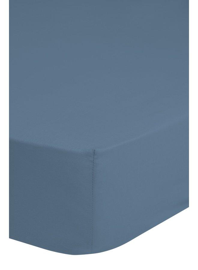 Hoeslaken 160/180x200 Good Morning jersey ijs blauw