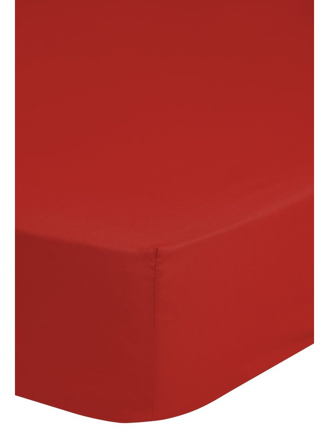 Hoeslaken 180x220 Good Morning jersey rood