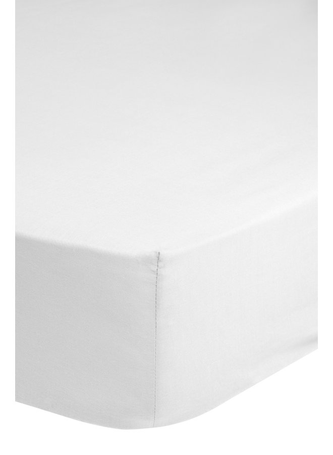 Hoeslaken 180x220 HIP katoen-satijn wit