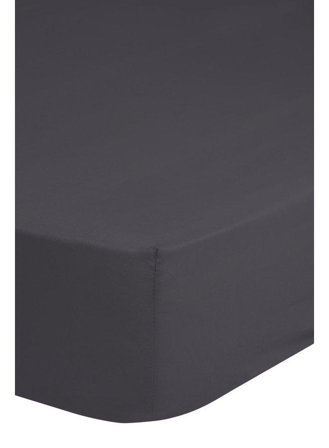 Hoeslaken 100x200 HIP katoen-satijn antraciet