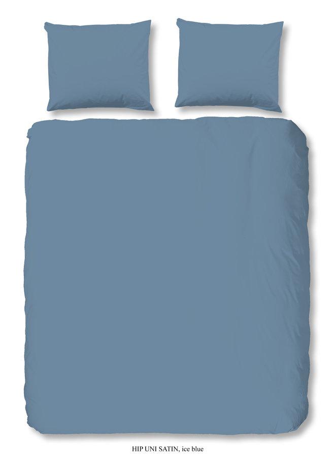 Hoeslaken 90x220 HIP katoen-satijn ice blauw