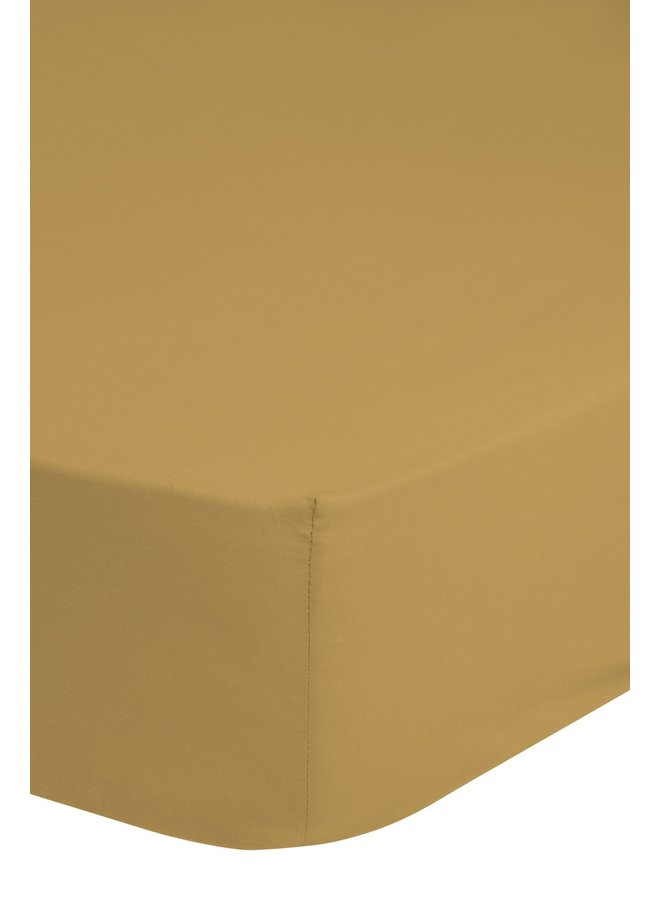 Hoeslaken 90x220 HIP katoen-satijn oker