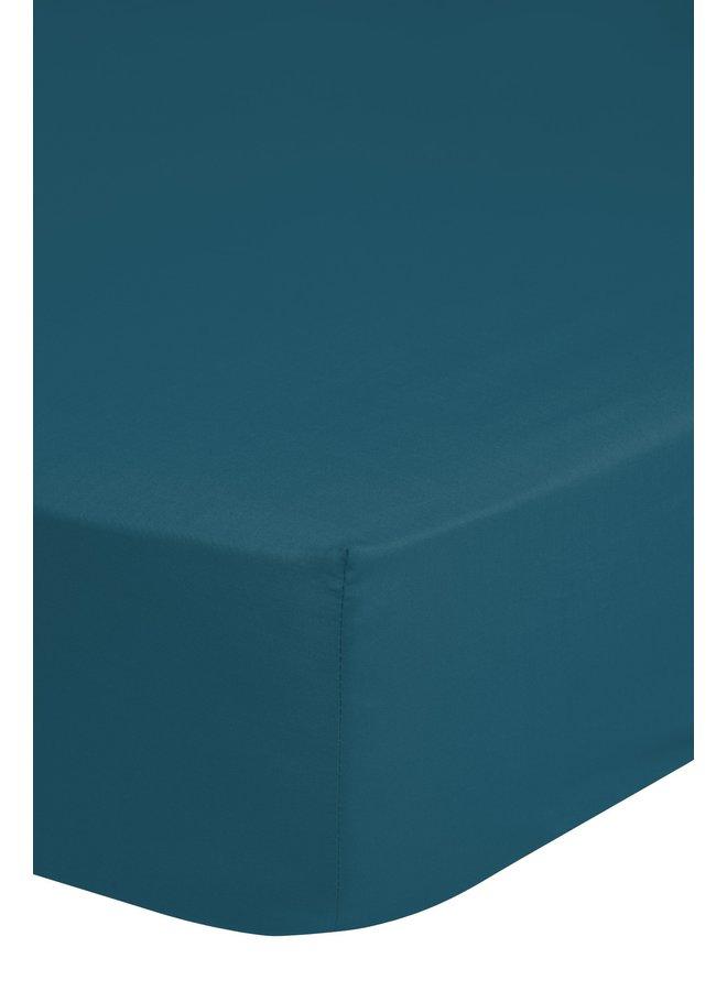 Hoeslaken 180x220 HIP katoen-satijn d.petrol