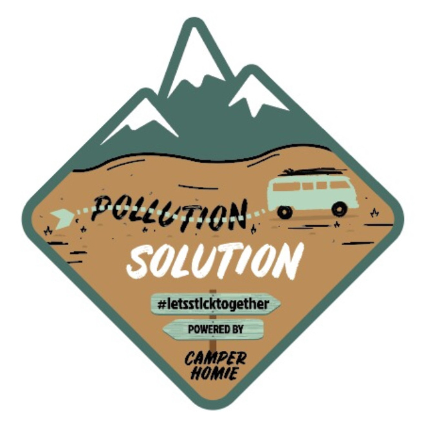 CamperHomie Compenseer je reis met zeewier en krijg deze sticker (10 cm x 10 cm) thuis gestuurd
