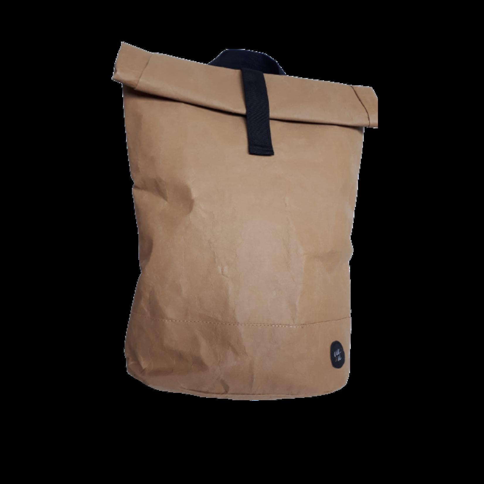 De duurzame rugzak   Krafpapieren rugtas bruin van Villi en Ve