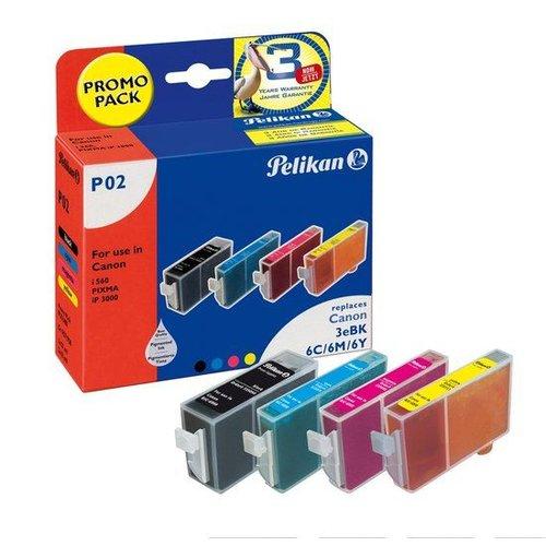 Pelikan Pelikan 02 - Inktcartridge / Zwart / Cyaan / Magenta / Geel