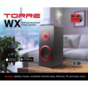 PSYC Torre WX WiFi & Bluetooth Draadloze Tower Speaker