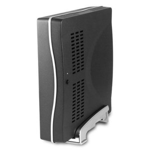 Slim Mini-ITX kast T1620, 60W adapter- Zwart
