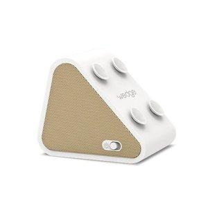 Antec AMP Wedge 2 in 1 Compact Draadloze Bluetooth Speaker met Smartphone houder, Goudkleurig
