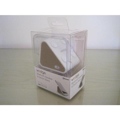 Antec Antec AMP Wedge 2 in 1 Compact Draadloze Bluetooth Speaker met Smartphone houder, Goudkleurig