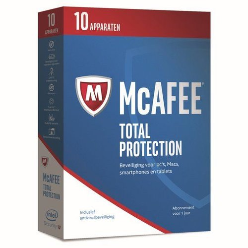McAfee McAfee Total Protection - Nederlands - 10 Apparaten - PC / Mac / iOS / Android