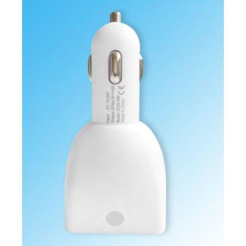 Avrena Autolader met 4 USB poorten 2.1A en 1A - voor Smartphone en Tablet - Wit