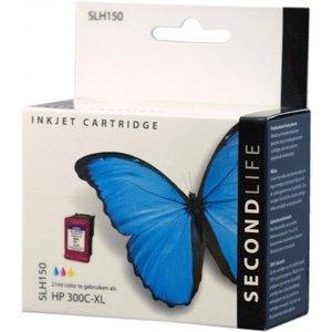 Secondlife SecondLife vervangende inkt cartridge kleur voor HP type HP 300
