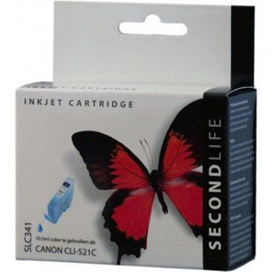Secondlife SecondLife vervangende inkt cartridge cyaan voor Canon CLI-521C
