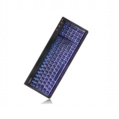 Keysonic KSK-6001UELX Compacte LED Keyboard met blauwe licht, USB