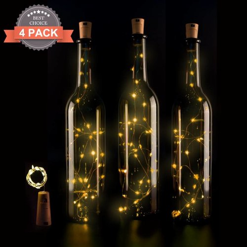 fles ledlampen voor in de fles of als sfeerverlicthing - 4 stuks