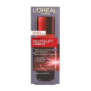 L'Oréal L'Oréal Paris Revitalift Laser X3 Anti Rimpel - 125 ml -Night Peeling Lotion