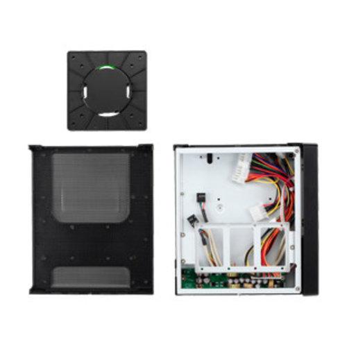 Fanless Thin Client Mini-ITX kast T3410, 60W adapter - Zwart