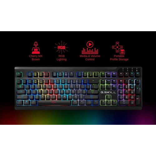 G.Skill G.Skill Ripjaws KM570RGB LED Mechanisch Gaming Toetsenbord RED Switch , Qwerty US