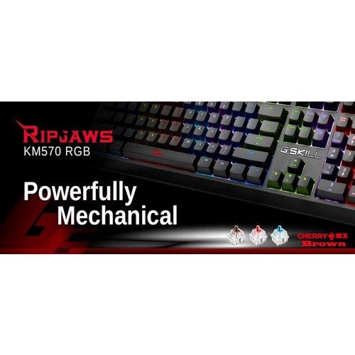 G.Skill G.Skill Ripjaws KM570RGB LED - Mechanisch Gaming Toetsenbord - Brown Switch - Qwerty US