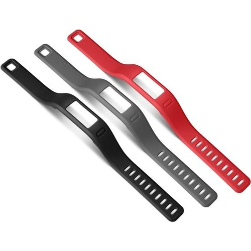Garmin  Garmin Vívofit polsbanden - Zwart, grijs en rood - Small