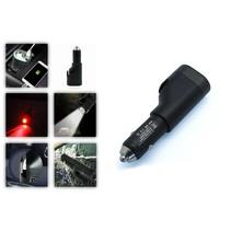 Avrena 6-in-1 autolader met noodhamer, gordelsnijder, zaklamp, noodlamp,powerbank